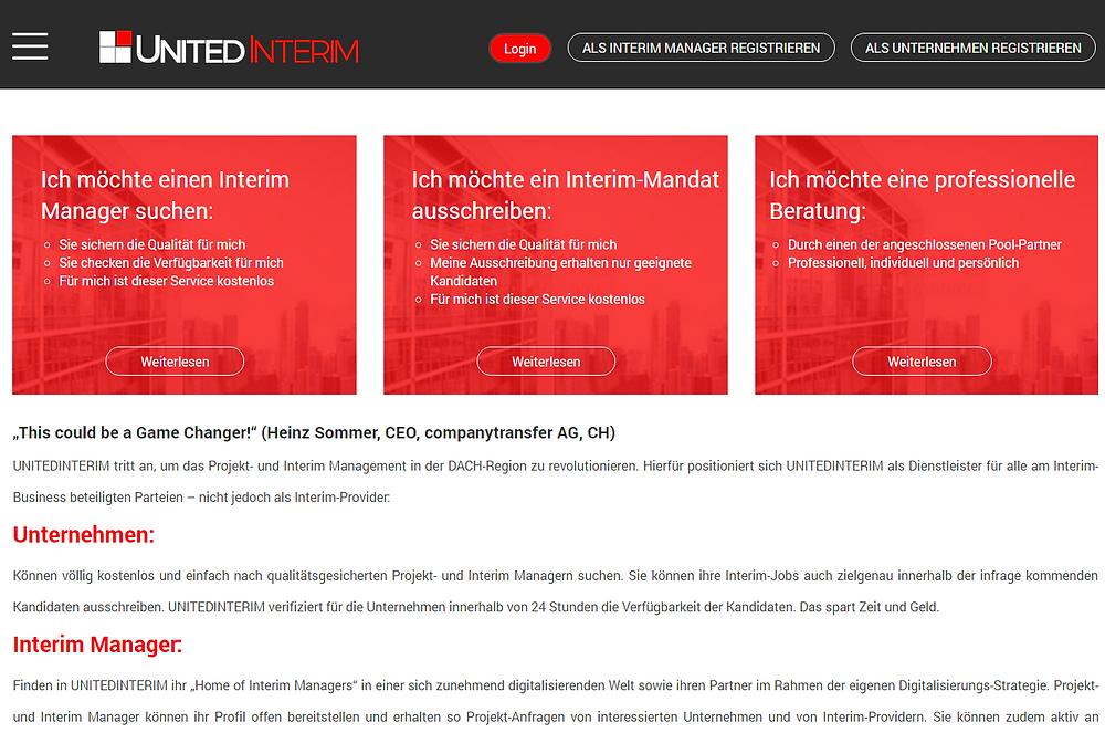 Interim Manager online mit UnitedInterim finden