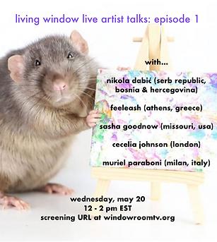living window live artist talks episode