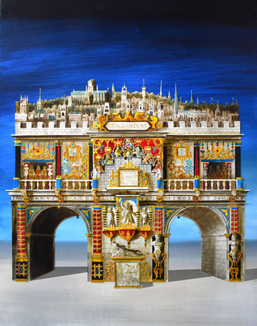 The Arch of Londinium  Paper collage and mixed media 2019  Ed Kluz