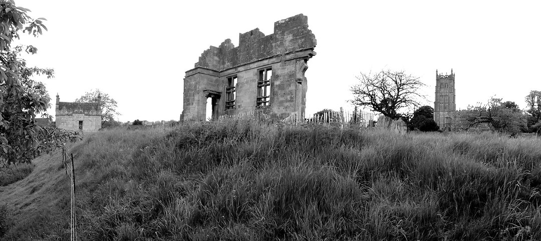 The Ruins of Chipping campden house, Ed Kluz, Lost houses UK, The lost house revisited, country house ruins, lost architecture