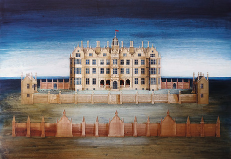 Chipping Campden House  Paper collage and mixed media 2016  Ed Kluz