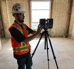 Laser scanning construction site at Breakers Hotel