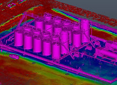 Point cloud elevation view