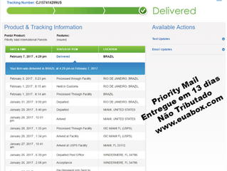 Quanto tempo para as encomendas serem entregues no Brasil, usando a EUA BOX como redirecionador nos
