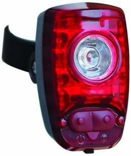 Iluminação de segurança traseira para bicicleta.