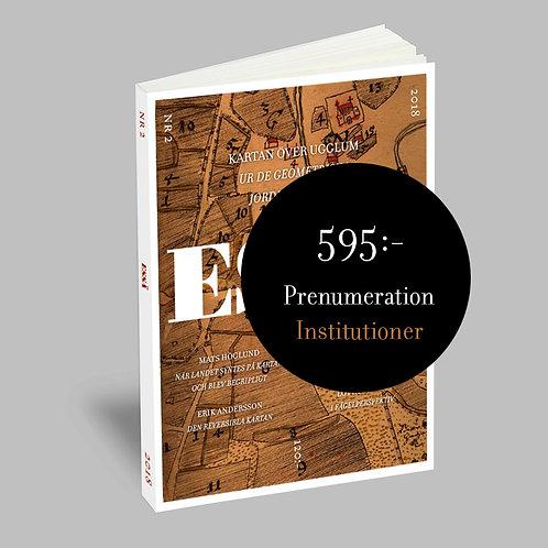 ESSÄ – prenumeration för institutioner