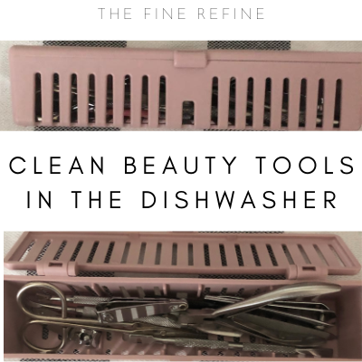 stericage with beauty tools to put in the dishwasher