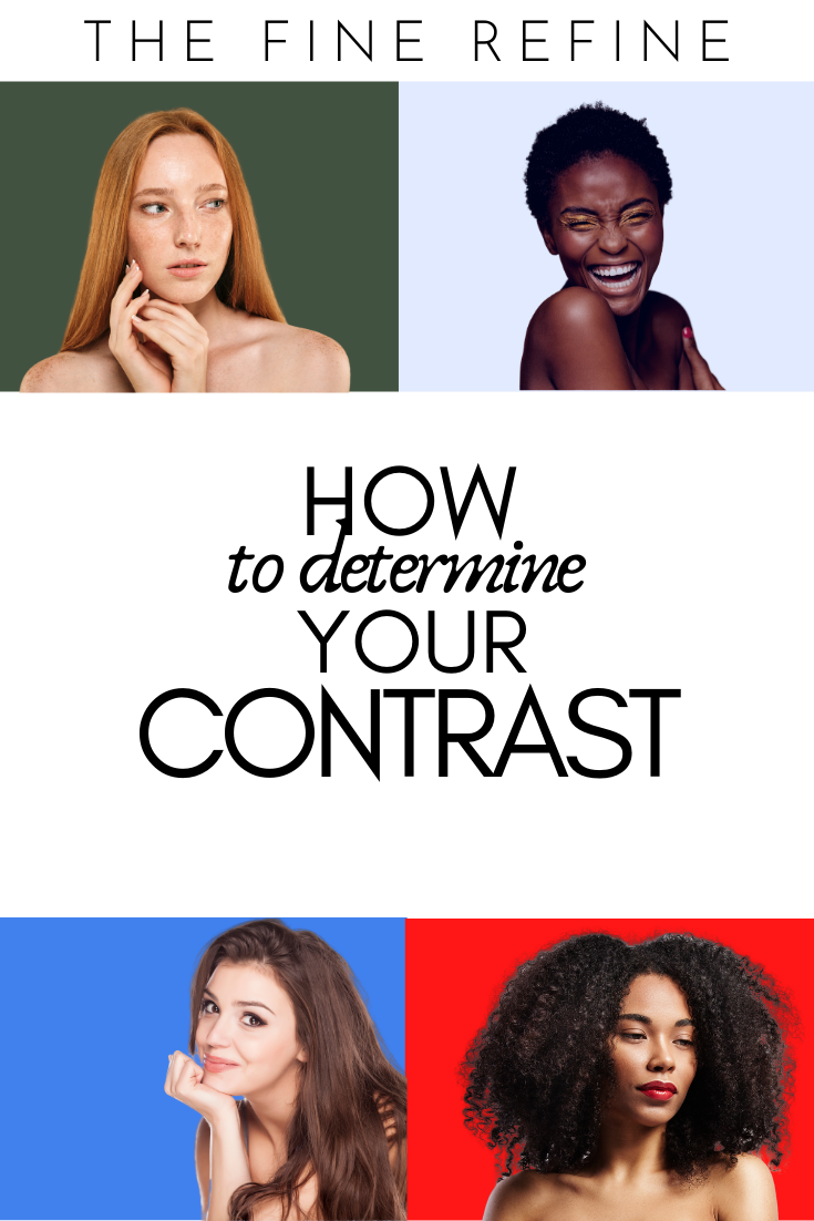 skin tone and hair color contrast