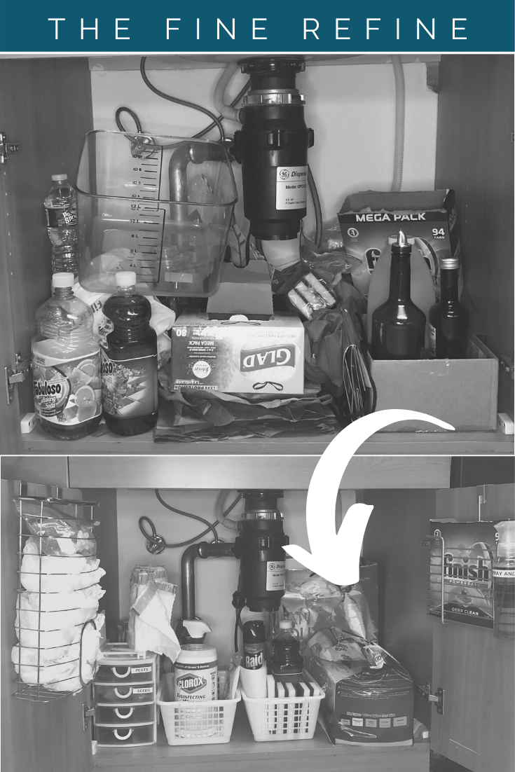 Organize under your kitchen sink or speed cleaning like a professional organizer.