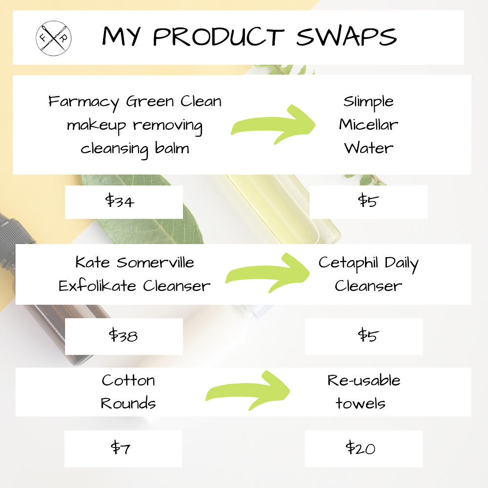 beauty product swaps to save money