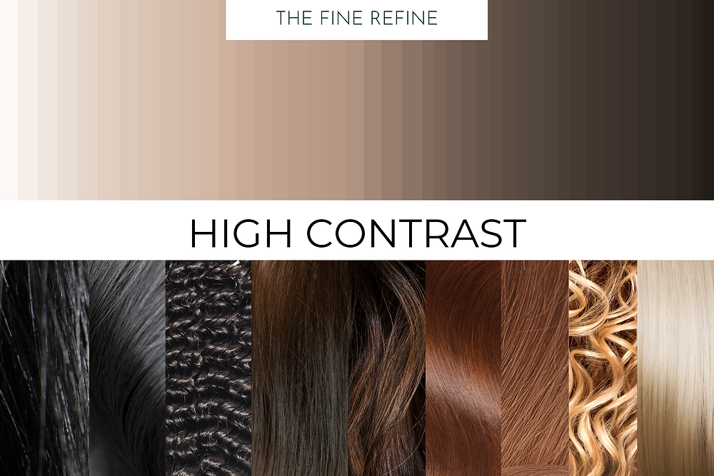 how to determine your skin and hair contrast