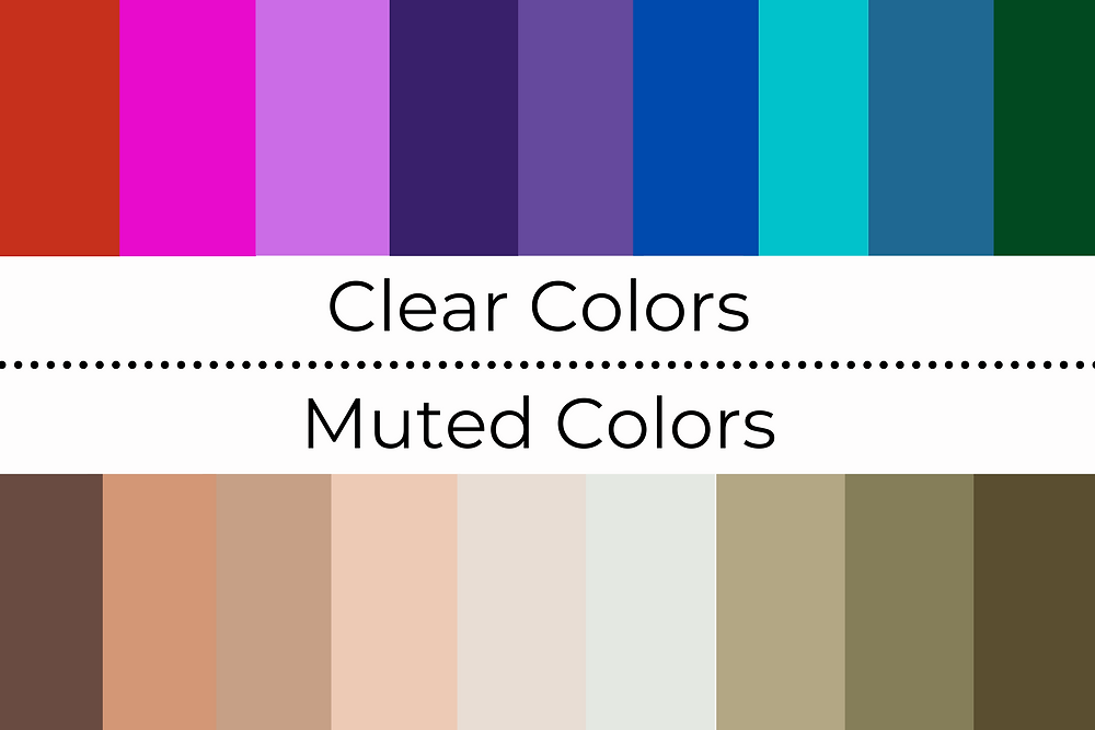 clear colors vs muted colors