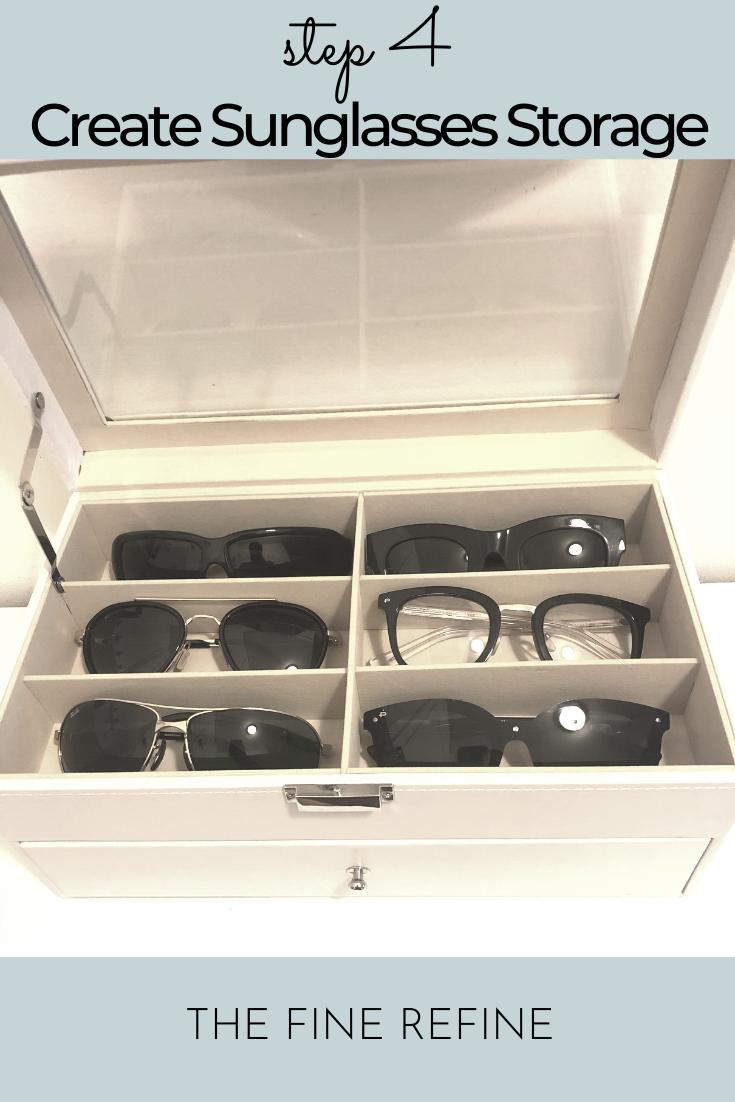 sunglasses storage