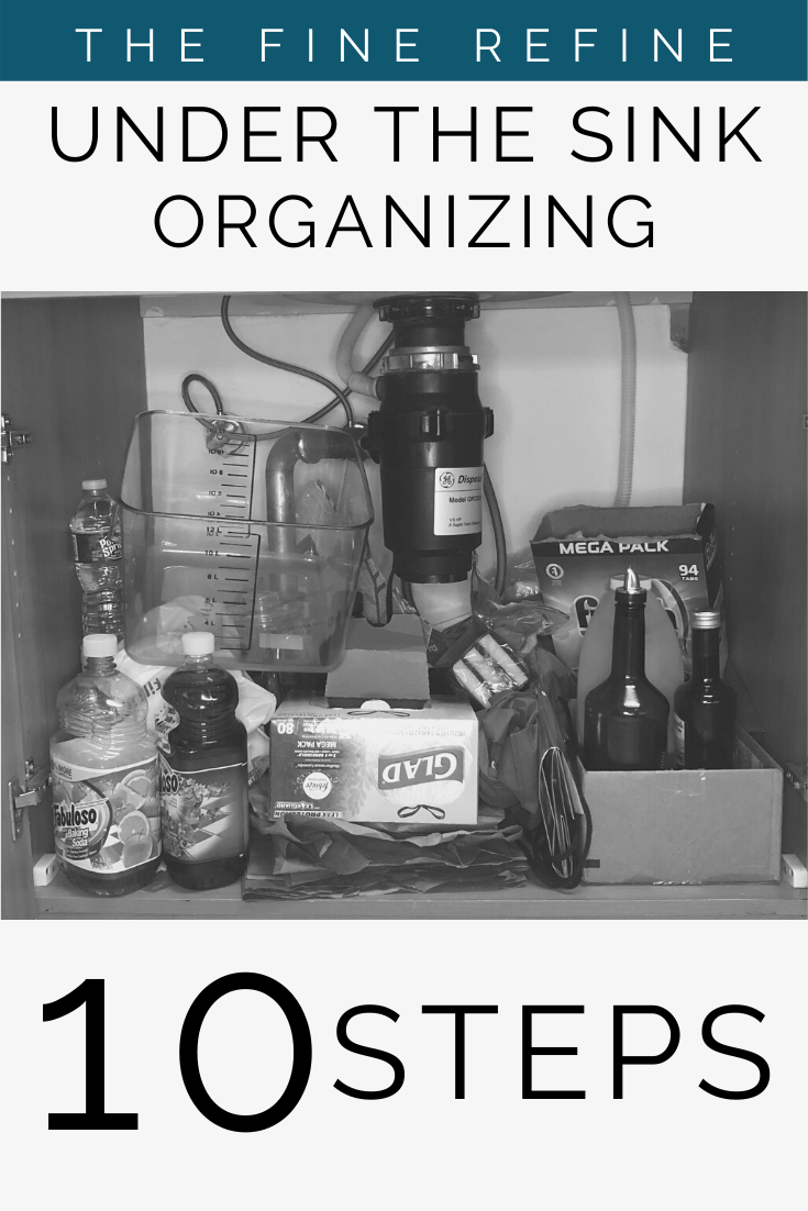 Organize under your kitchen sink easily following these 10 steps from a Certified Professional Organizer with product recommendations that will help you maximize the space you have.