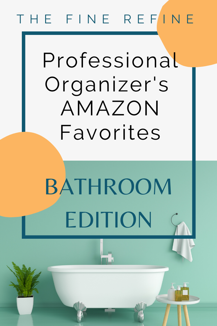 Professional Organizer reveals favorite amazon bathroom organizing products and helpful tips and tricks to organize your tiny bathroom.