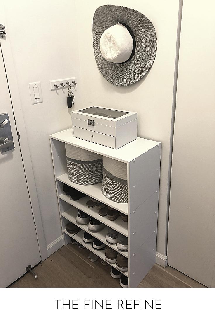 small apartment mudroom