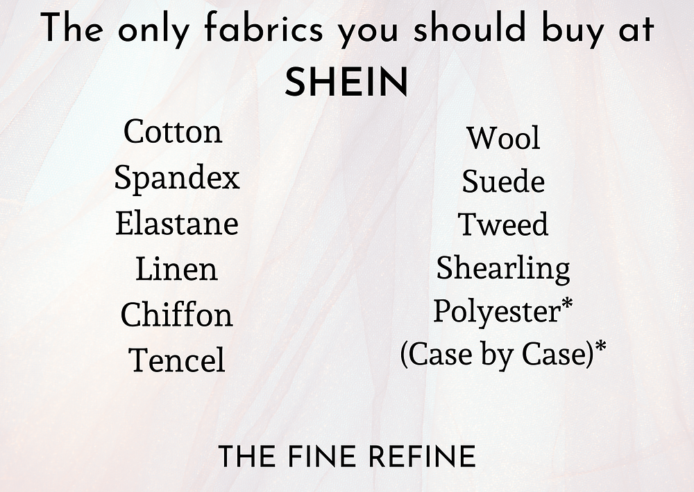 how to shop shein elegant fabrics to choose