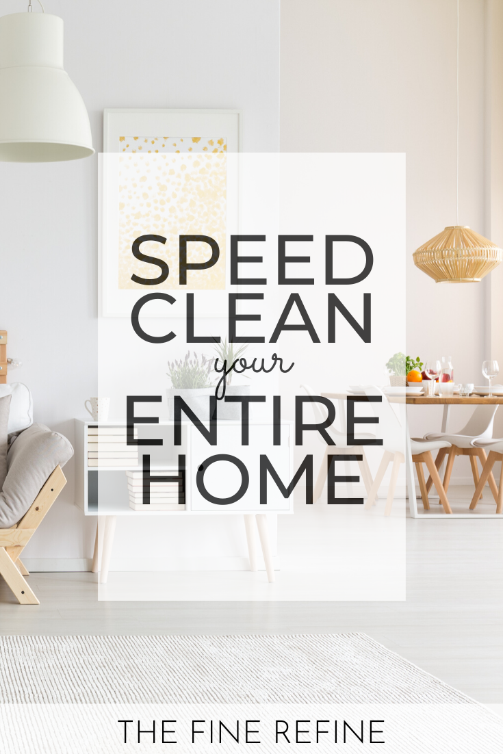 speed clean your entire home