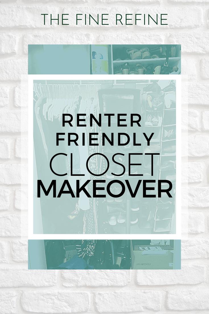 renter friendly closet makeover