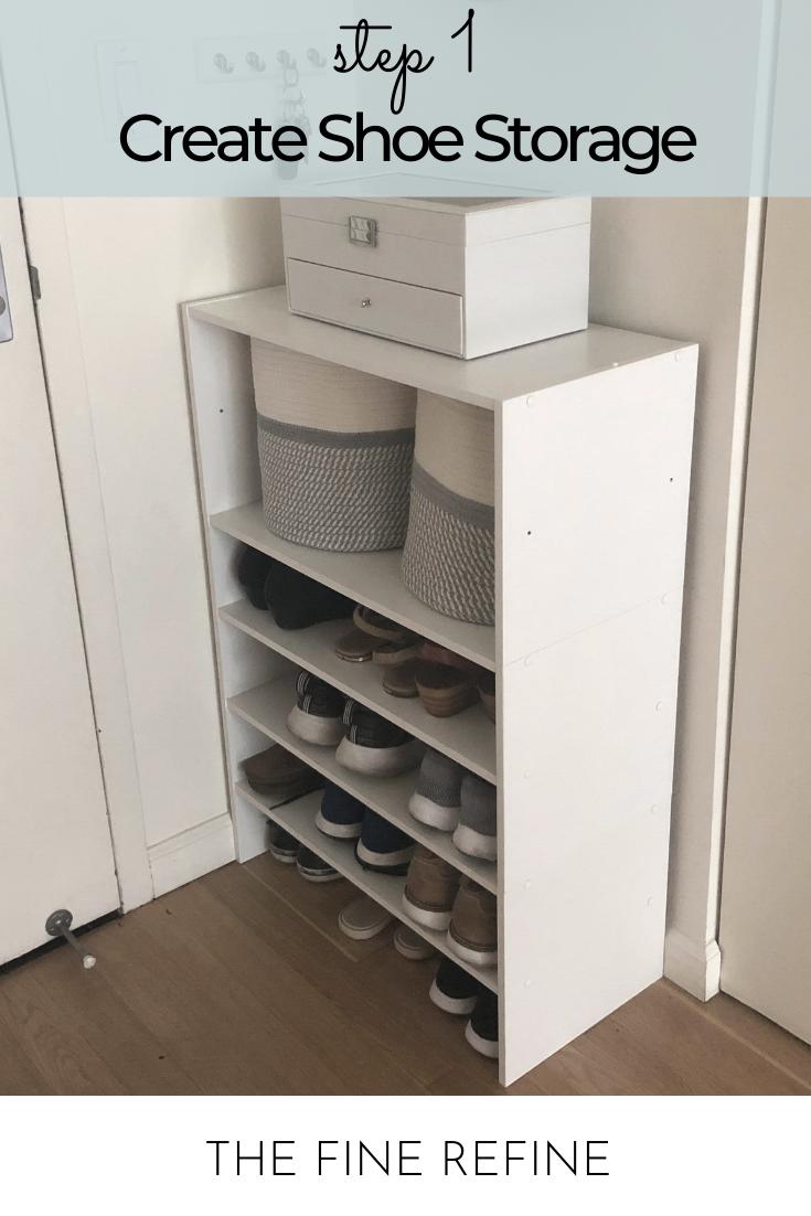 mudroom shoe storage