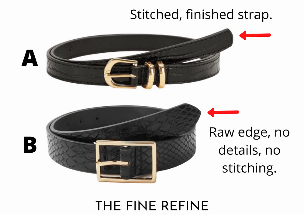 Black croc leather belts cheap vs expensive