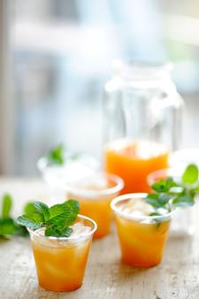 Peach Ice Tea with Mint