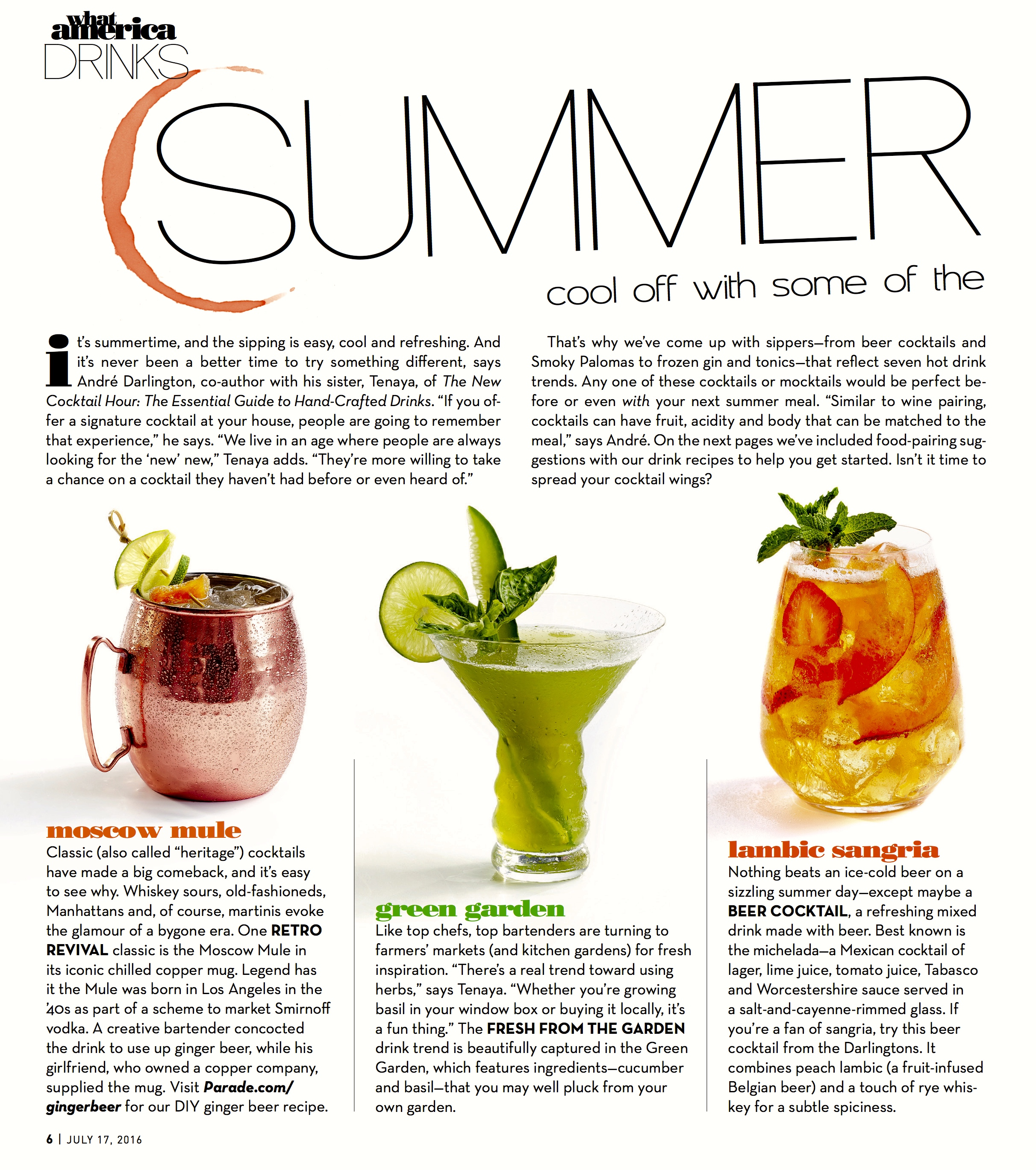 Cocktails for Summer Parade Mag