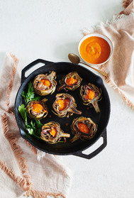 """Roasted Artichokes from """"Skillet Love"""""""
