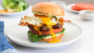 Breakfast Burger with Fried Egg