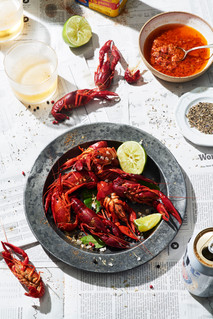 Crawfish with Beer