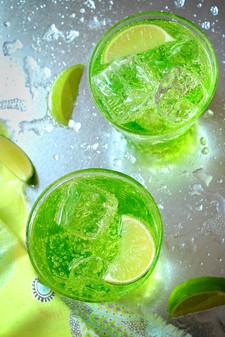 Midori and Lime Cocktails