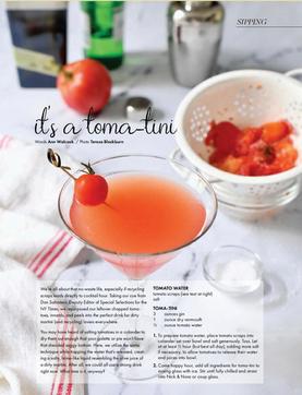 Tomatini Cocktail, Edible Nashville