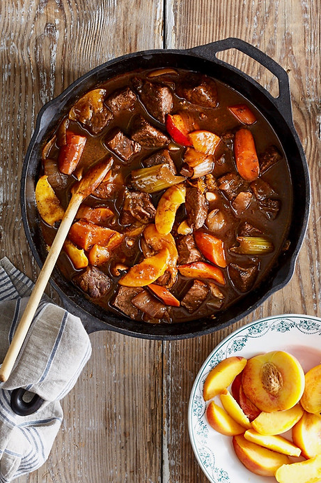 Beef Stew with Peaches