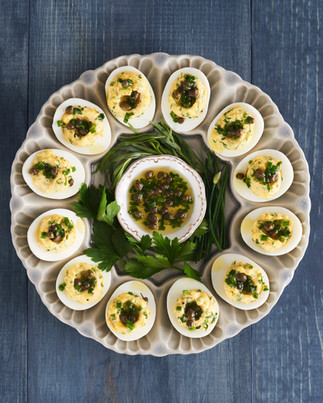 Deviled Eggs/Herbs & Capers, Fine Cooking Magazine 2020