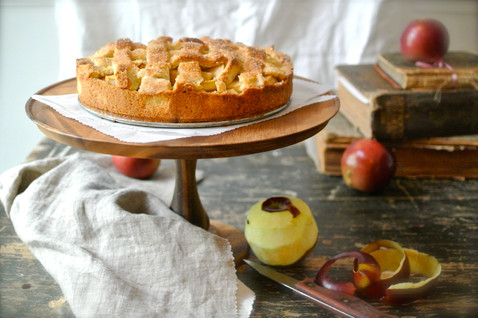 Apple Pie with lattice Topping and Arkansas Black Apples