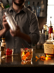 Makers Mark Cocktail Bar setting