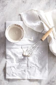 Icing Bowl with Whisk and Drips