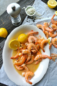 Shrimp Lemons and Butter