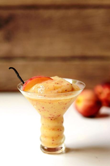 Frozen Peach Cocktail