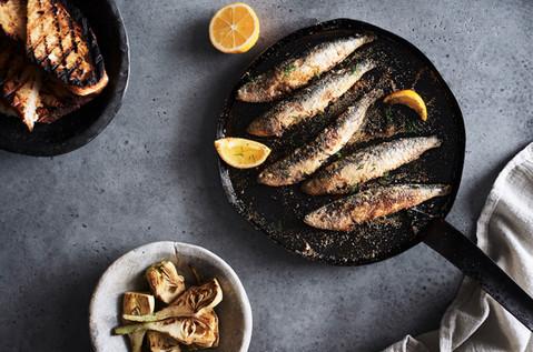 Sardines....pan fried