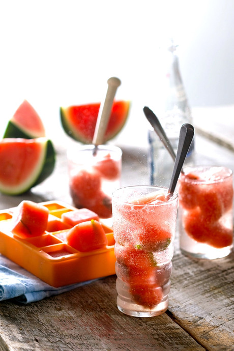 Watermelon Ice Cubes