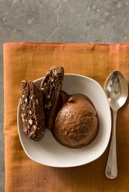 Chocolate Ice Cream and Biscotti