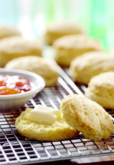 Hot Biscuits with Butter and Jam
