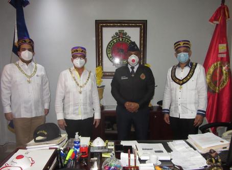 SCG33RD realiza donación de mascarillas y viseras al Cuerpo de Bomberos del Distrito Nacional.