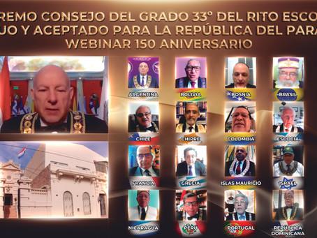 SCG33RD participa en sesión solemne del 150 aniversario de Paraguay.