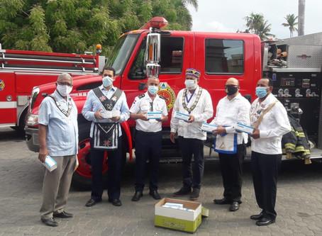 SCG33RD y  los Cuerpos Escoceses de Puerto Plata realizan donación al Cuerpo de Bomberos Municipal.