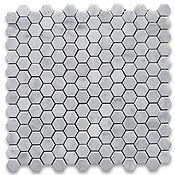 Carrara Hexagon tile