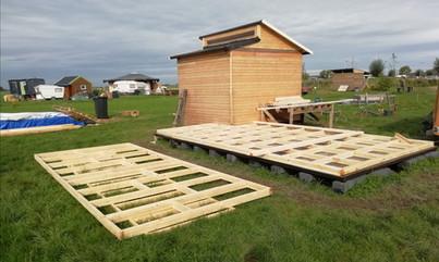 Huisje in aanbouw