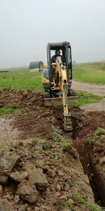 Druk bezig met graven