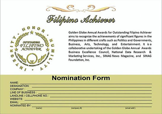 ACHIEVER Nomination Form